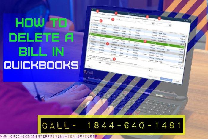 QuickBooks Delete Bill
