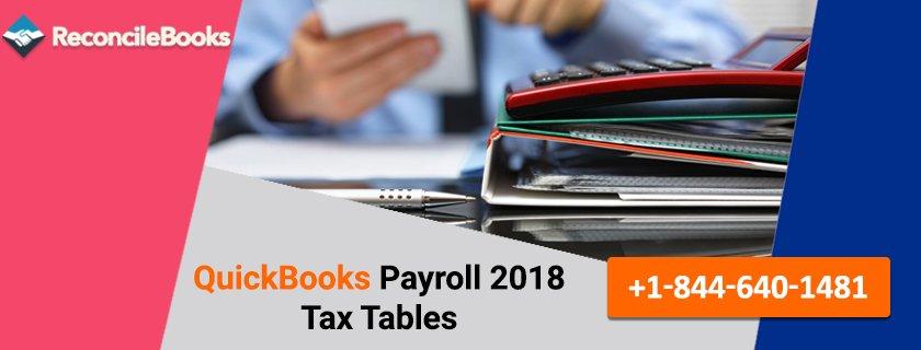 QuickBooks Payroll 2018 Tax Tables