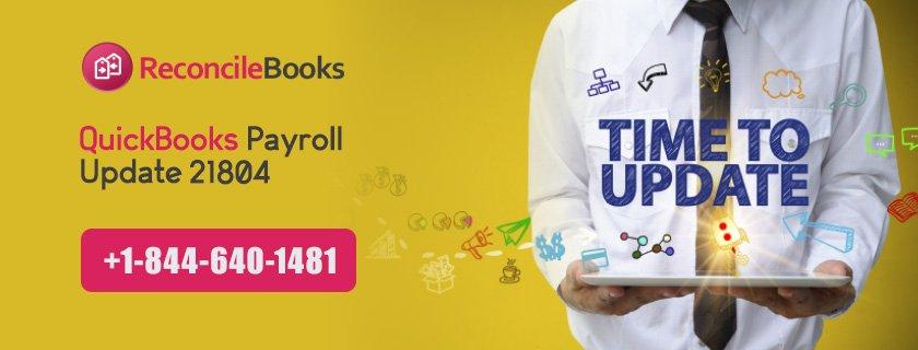 QuickBooks Payroll Update 21804