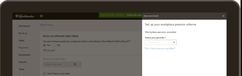 QuickBooks Payroll Auto Enrolment Dashboard
