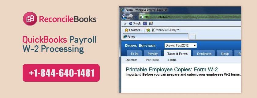 QuickBooks Payroll W-2 Processing
