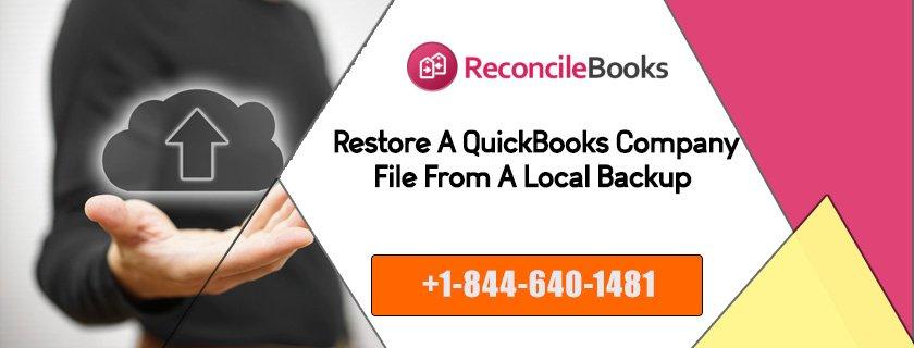 Restore QuickBooks Company File