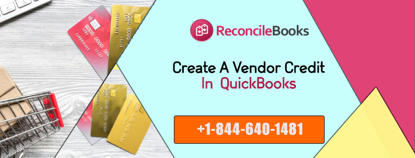 QuickBooks Vendor Credit