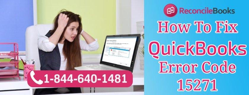 QuickBooks Error Code 15271