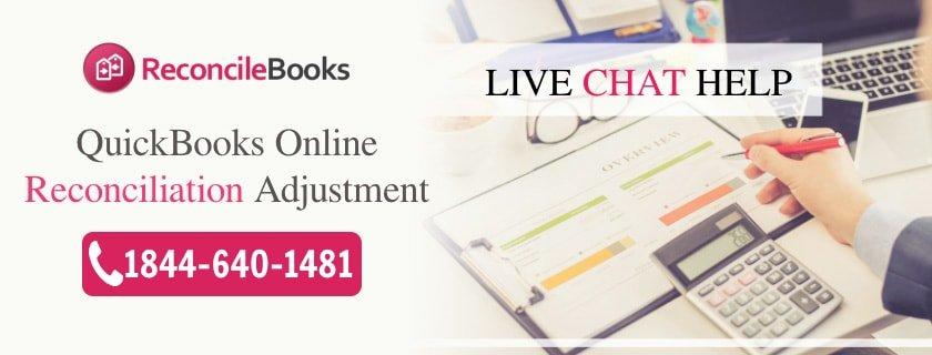 Adjust Modify Reconciliation QuickBooks Online