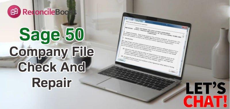 Company File Check & Repair Sage 50