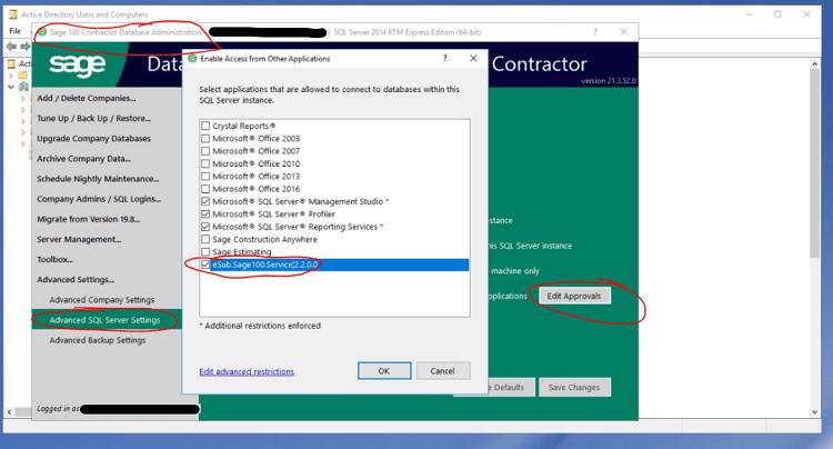 Sage 100 Contractor SQL
