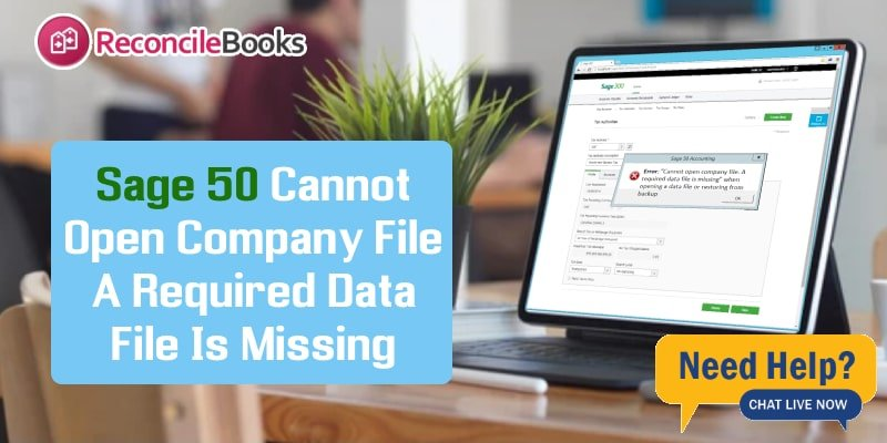 Error Sage 50 Required Data File Is Missing